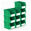 Picture of Panel Bin - Plastic Small Parts Container - Size 4 - 21 x 14 x 13 cm - Green - BIN-4-GREEN