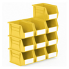 Picture of Panel Bin - Plastic Small Parts Container - Size 4 - 21 x 14 x 13 cm - Yellow - BIN-4-YELLOW
