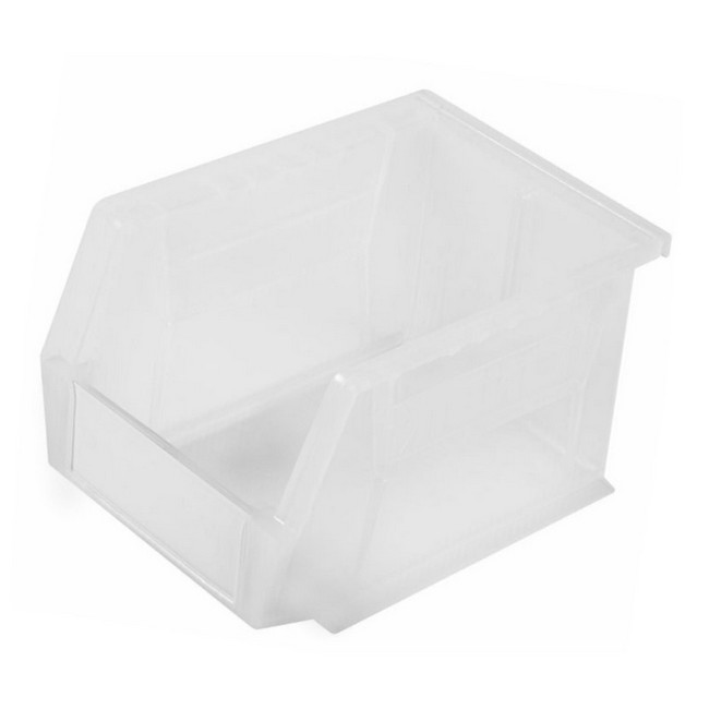 Picture of Panel Bin - Plastic Small Parts Container - Size 4 - 21 x 14 x 13 cm - Clear - BIN-4-CLEAR