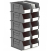 Picture of Panel Bin - Plastic Small Parts Container - Size 5 - 28 x 14 x 13 cm - Grey - BIN-5-GREY