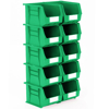 Picture of Panel Bin - Plastic Small Parts Container - Size 6 - 28 x 21 x 18 cm - Green - BIN-6-GREEN