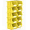 Picture of Panel Bin - Plastic Small Parts Container - Size 6 - 28 x 21 x 18 cm - Yellow - BIN-6-YELLOW