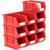 Picture of Panel Bin - Plastic Small Parts Container - Size 7 - 37.5 x 21 x 18 cm - Red - BIN-7-RED