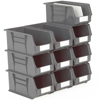 Picture of Panel Bin - Plastic Small Parts Container - Size 7 - 37.5 x 21 x 18 cm - Grey - BIN-7-GREY