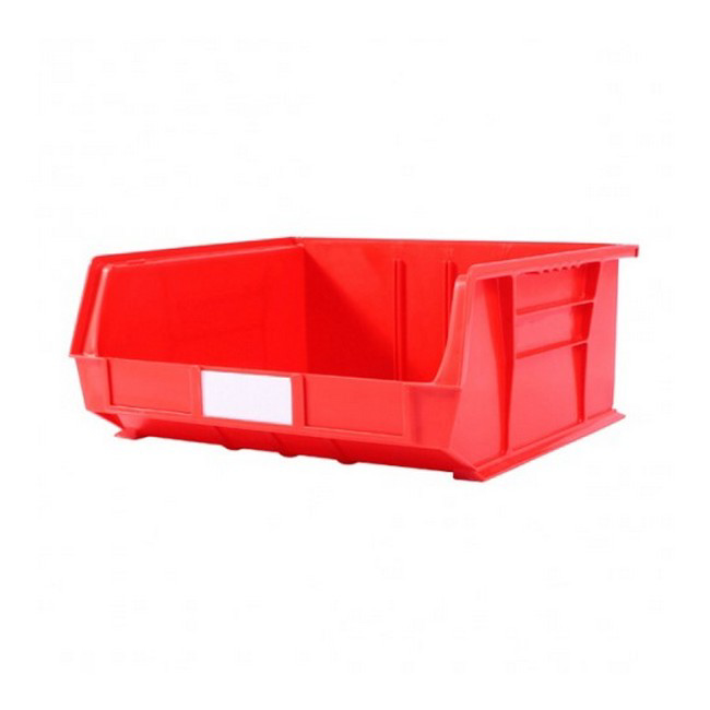 Picture of Panel Bin - Plastic Small Parts Container - Size 8 - 37.5 x 42 x 18 cm - Red - BIN-8-RED