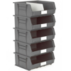 Picture of Panel Bin - Plastic Small Parts Container - Size 8 - 37.5 x 42 x 18 cm - Grey - BIN-8-GREY