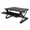 """Picture of Ergonomic - M2B 35"""" Sit-Stand-On Desk - Standing Desk Converter with Tablet Groove - Flexispot  - FM2BWG"""