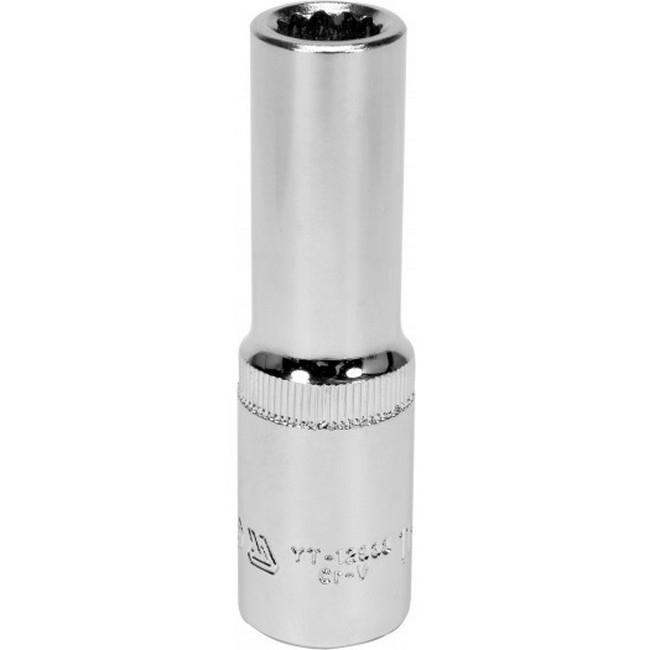 "Picture of Bi-hex Deep Socket - 12 Point - Chrome Vanadium - 1/2"" Connector - 76mm Length - 11mm - YT-12933"