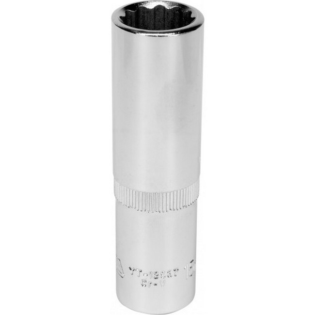 "Picture of Bi-hex Deep Socket - 12 Point - Chrome Vanadium - 1/2"" Connector - 76mm Length - 15mm - YT-12937"
