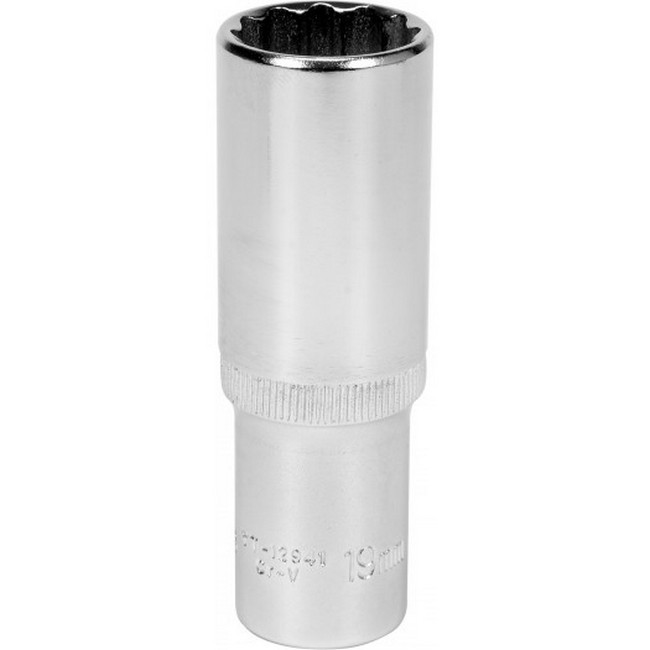"Picture of Bi-hex Deep Socket - 12 Point - Chrome Vanadium - 1/2"" Connector - 76mm Length - 19mm - YT-12941"