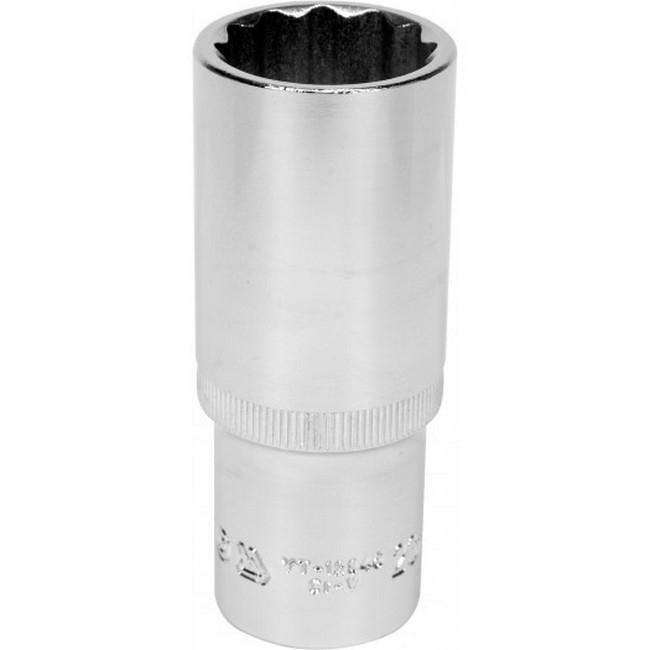 "Picture of Bi-hex Deep Socket - 12 Point - Chrome Vanadium - 1/2"" Connector - 76mm Length - 23mm - YT-12945"