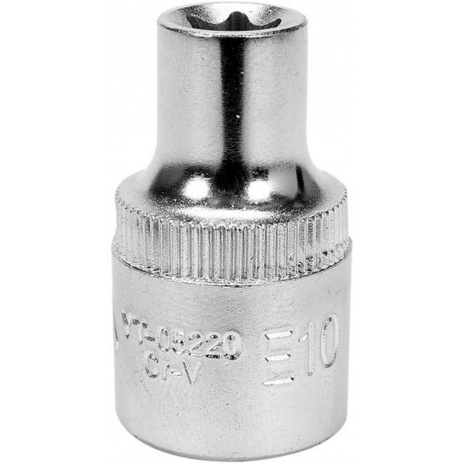"Picture of Torx Socket - Female - Chrome Vanadium - 1/2"" Connector - E10 - YT-05220"