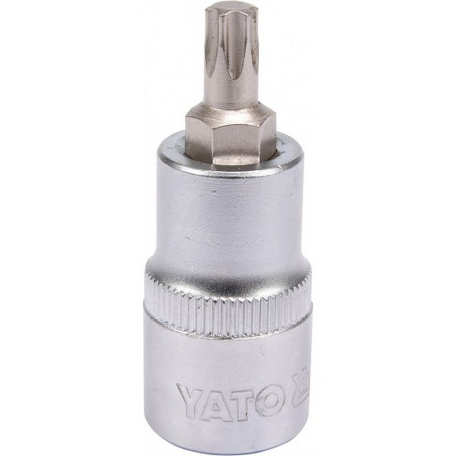 "Picture of Torx Bit Socket - Male - Chrome Vanadium -  1/2"" Connector - Standard Length - T40 x 50mm - YT-04314"