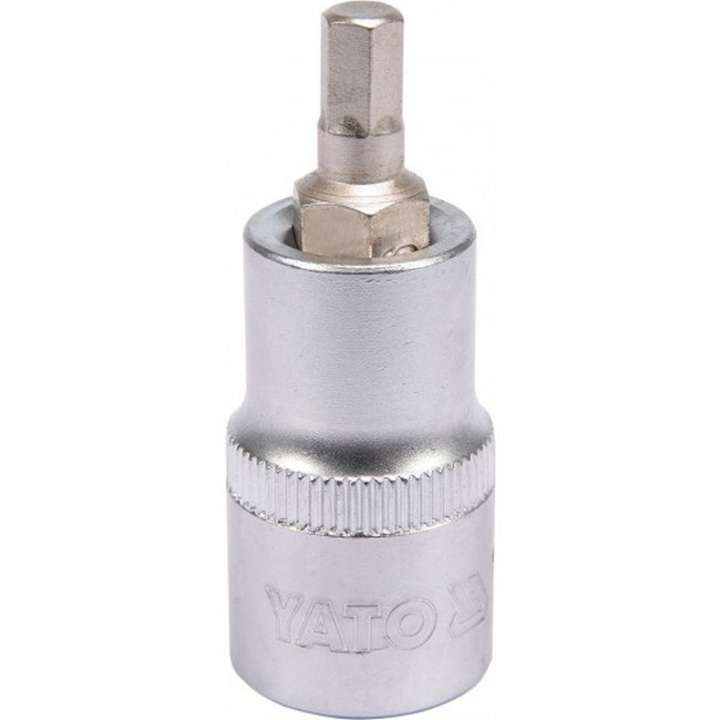 "Picture of Hex Bit Socket - Chrome Vanadium -  1/2"" Connector - Standard Length - HEX 6 x 50mm - YT-04382"