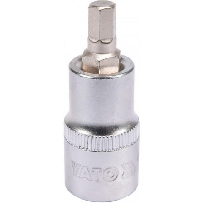 "Picture of Hex Bit Socket - Chrome Vanadium -  1/2"" Connector - Standard Length - HEX 7 x 50mm - YT-04383"