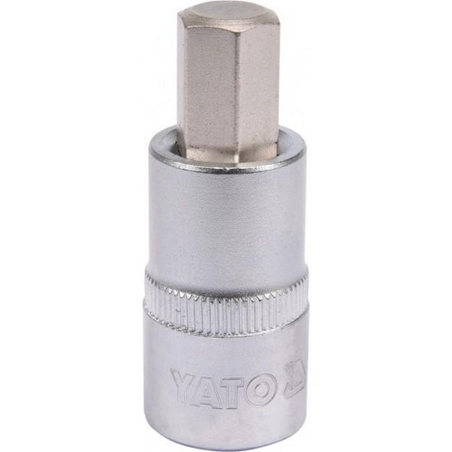 "Picture of Hex Bit Socket - Chrome Vanadium -  1/2"" Connector - Standard Length - HEX 12 x 50mm - YT-04386"