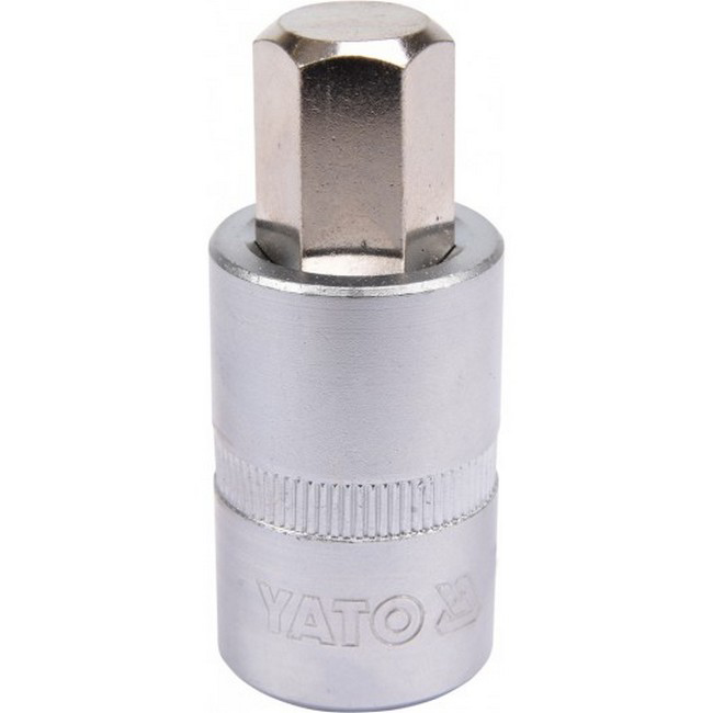 "Picture of Hex Bit Socket - Chrome Vanadium -  1/2"" Connector - Standard Length - HEX 14 x 50mm - YT-04387"