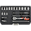 """Picture of Socket Set - AS-Drive 6 Point - Chrome Vanadium - 1/4"""" Connector - 20 Piece - YT-14491"""