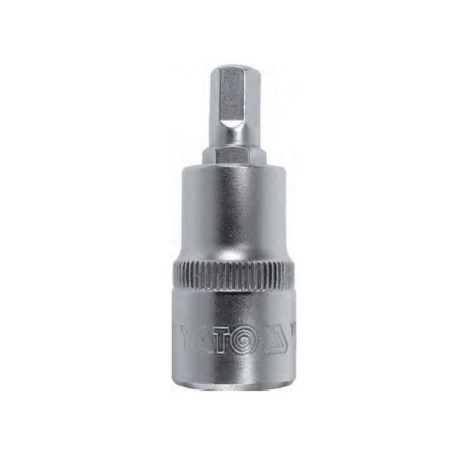 "Picture of Hex Bit Socket - Chrome Vanadium -  1/2"" Connector - Standard Length - HEX 9 x 50mm - YT-76596"