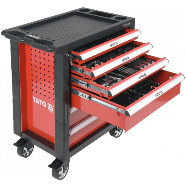Picture of Tool Cabinet With Tools - Comprehesive Professional Set - Chrome Vanadium - 177 Piece - YT-55300