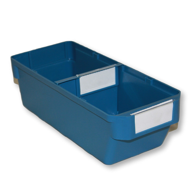 Picture of Shelf Bin - Loose Parts Warehouse Storage Container - Plastic - Small - 300mm - Blue - DP300S-single