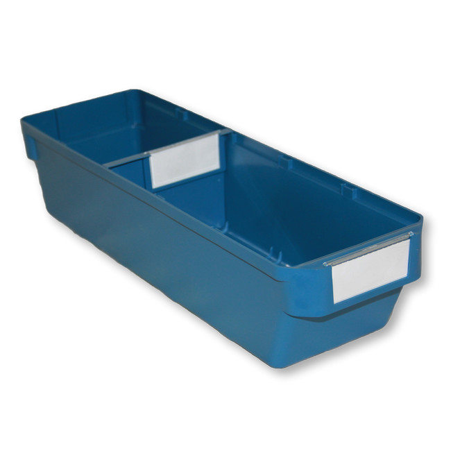 Picture of Shelf Bin - Loose Parts Warehouse Storage Container - Plastic - Small - 400mm - Blue - DP400S-single