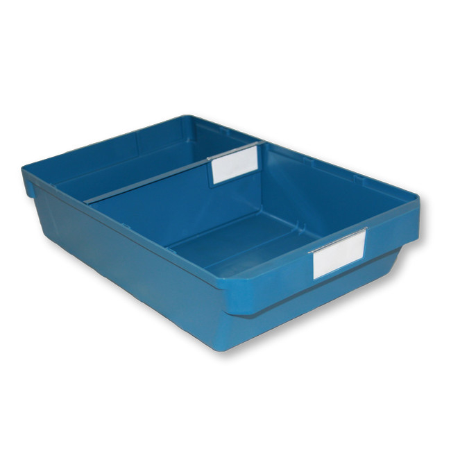 Picture of Shelf Bin - Loose Parts Warehouse Storage Container - Plastic - Large - 400mm - Blue - DP400L-single