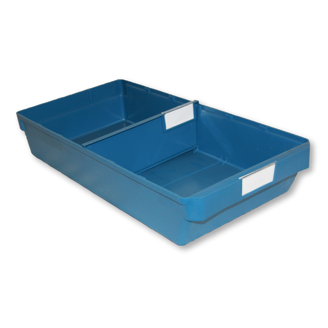 Picture of Shelf Bin - Loose Parts Warehouse Storage Container - Plastic - Large - 500mm - Blue - DP500L-single