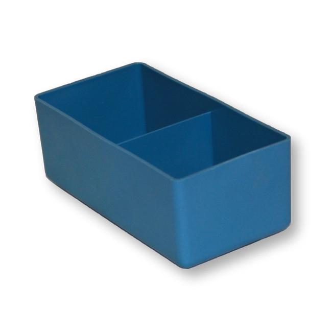 Picture of Drawer Organiser - Insert Bin with Divider - Blue - DPINSERT02-single