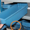 Picture of Front Stopper for Shelf Bin - Loose Parts Warehouse Storage Container - Plastic - Blue - (MOQ 20) - DPFRONTSTOPPER-single