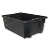 Picture of Tote Box - Plastic Crate - Stack and Nest Container - 48L - 60 x 40 x 21 cm - Black - DPTOTEBOX-single