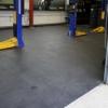 Picture of Kwiklok Interlocking PVC Floor Tiles - Recycled - 46.5 x 46.5 x 0.6 cm - Black - RUBKL6
