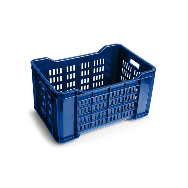 Picture of Meat Crate - Agri Lug - Plastic Box - Vented Base and Sides - 53 x 35.5 x 29 cm - Virgin Material - HACCP - PI-401-Vented-virgin