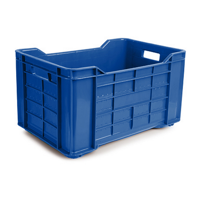 Picture of Meat Crate - Agri Lug - Plastic Box - Solid Base and Sides - 53 x 35.5 x 29 cm - Virgin Material - HACCP - PI-401-Solid-virgin
