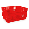 Picture of Heavy Duty Freezer Nesting Crate - Plastic Box - Vented Base and Sides - 62.5 x 45 x 17 cm - Recycled Material - PI-730-stock