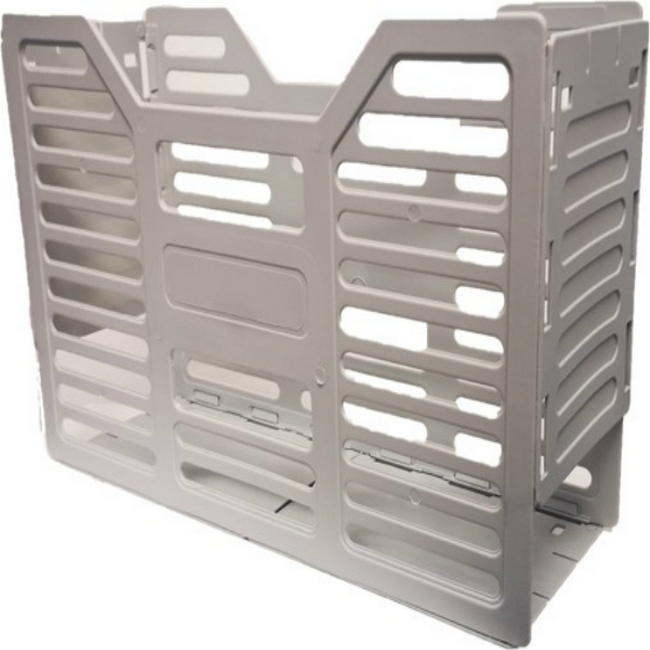 Picture of A4 Slated Plastic Filing Container - 32 x 10 x 22 cm - Grey - Pack of 20 - 02SLPC-GY
