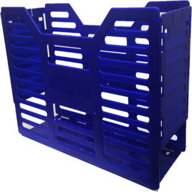 Picture of A4 Slated Plastic Filing Container - 32 x 10 x 22 cm - Blue - Pack of 20 - 02SLPC-B