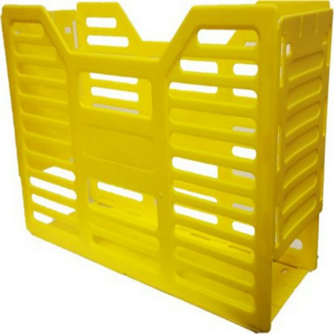 Picture of A4 Slated Plastic Filing Container - 32 x 10 x 22 cm - Yellow - Pack of 20 - 02SLPC-Y