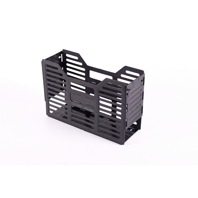 Picture of A4 Slatted Plastic Filing Container - Recycled - 32 x 10 x 22 cm - Black - Pack of 20 - 03RSLPC