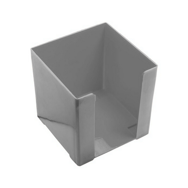 Picture of Paper Cube Holder - Square - Doodle Box - Plastic - 10 x 10 x 10 cm - Grey - Pack of 8 - 018DB-GY
