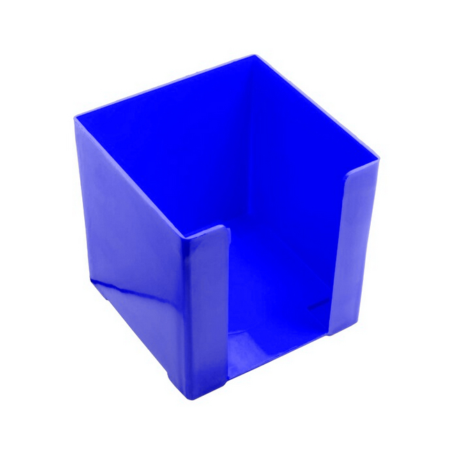 Picture of Paper Cube Holder - Square - Doodle Box - Plastic - 10 x 10 x 10 cm - Blue - Pack of 8 - 018DB-B