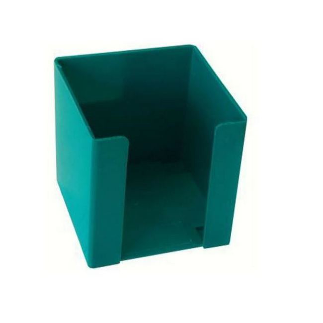 Picture of Paper Cube Holder - Square - Doodle Box - Plastic - 10 x 10 x 10 cm - Green - Pack of 8 - 018DB-G