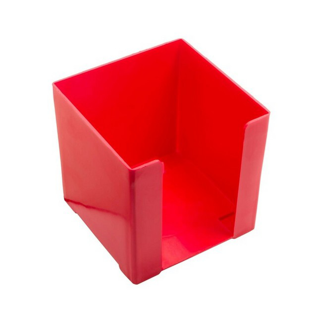 Picture of Paper Cube Holder - Square - Doodle Box - Plastic - 10 x 10 x 10 cm - Red - Pack of 8 - 018DB-R