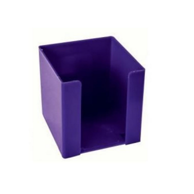 Picture of Paper Cube Holder - Square - Doodle Box - Plastic - 10 x 10 x 10 cm - Purple - Pack of 8 - 018DB-P