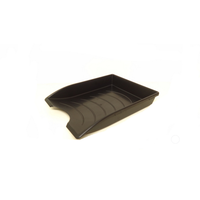 Picture of Letter Tray - Plastic - Recycled - Single - 35 x 26 x 6 cm - Black - Pack of 20 - 015LT-RS