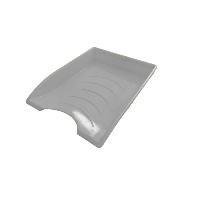 Picture of Letter Tray - Plastic - Single - 35 x 26 x 6 cm - Grey - Pack of 20 - 012LT-S-GY
