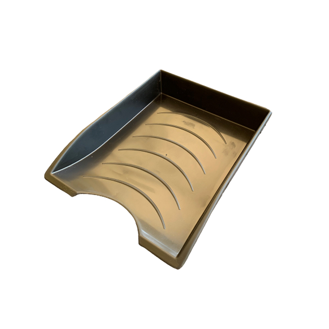 Picture of Letter Tray - Plastic - Single - 35 x 26 x 6 cm - Black - Pack of 20 - 012LT-S-BL