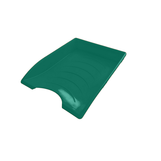 Picture of Letter Tray - Plastic - Single - 35 x 26 x 6 cm - Green - Pack of 20 - 012LT-S-G