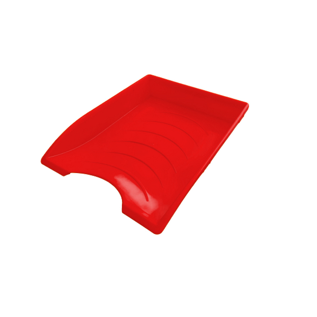 Picture of Letter Tray - Plastic - Single - 35 x 26 x 6 cm - Red - Pack of 20 - 012LT-S-R