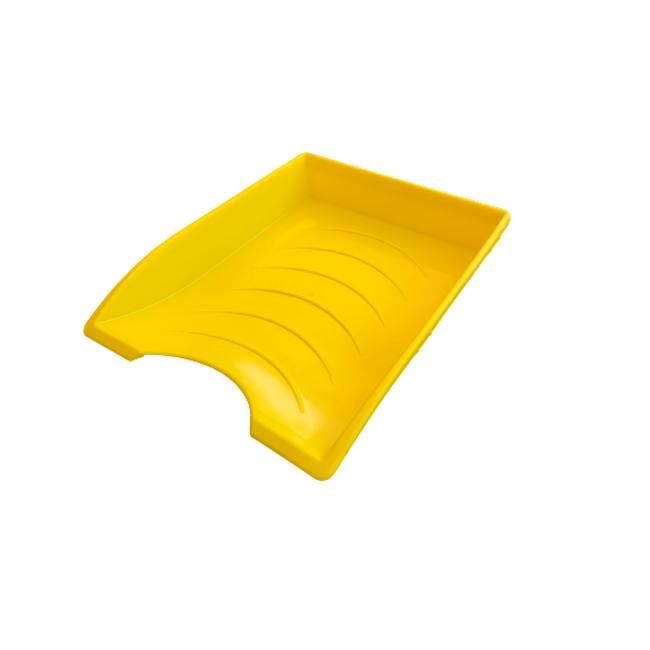 Picture of Letter Tray - Plastic - Single - 35 x 26 x 6 cm - Yellow - Pack of 20 - 012LT-S-Y